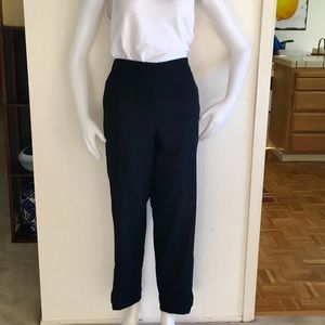 Uniqlo + Lemaire Pants - UNIQLO + LEMAIRE Black Wool Cuffed Pants Sz L